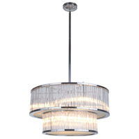 Crayton 6 Light 25 inch Nickel Pendant Ceiling Light, 2 Tier