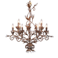 Mariana Majestic 9 Light Chandelier in Rubbed Antique Gold 500959