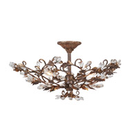 Mariana Majestic 3 Light Semi-Flush Pendant in Rubbed Antique Gold 502459