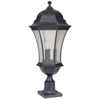 Mariana 513312 Crandall 3 Light 27 inch Black Outdoor Post Mount Lantern