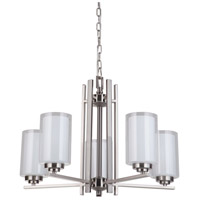 Mariana 520545 Chryssa 5 Light 25 inch Brushed Nickel Chandelier Ceiling Light