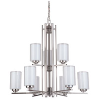 Mariana 520945 Chryssa 9 Light 30 inch Brushed Nickel Chandelier Ceiling Light