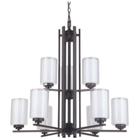 Mariana 520983 Chryssa 9 Light 30 inch Bronze Chandelier Ceiling Light