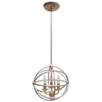 Mariana Signature 3 Light Pendant in Antique Silver Leaf 521214