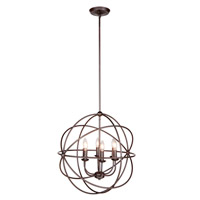 Signature 6 Light 22 inch Urban Bronze Pendant Ceiling Light