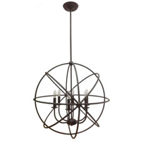 Signature 6 Light 28 inch Urban Bronze Pendant Ceiling Light
