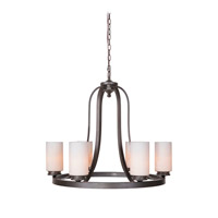 Mariana Urban 6 Light Chandelier in Urban Bronze 550683