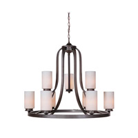 Mariana Urban 9 Light Chandelier in Urban Bronze 550983