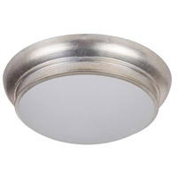 Classic 2 Light 11 inch Satin Nickel Flush Mount Ceiling Light