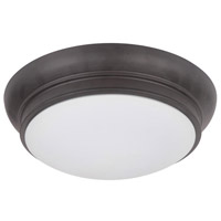 Classic 2 Light 11 inch Bronze Flush Mount Ceiling Light