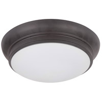 Classic 2 Light 13 inch Bronze Flush Mount Ceiling Light