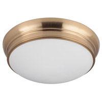 Mariana 551524 Classic 3 Light 15 inch Brass Flush Mount Ceiling Light