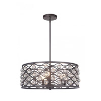 Mariana 552383 Halcyon 5 Light 24 inch Bronze/Clear Glass Balls Pendant Ceiling Light Convertible to Semi Flush