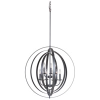 Mariana 552888 Brentwood 9 Light 28 inch Iron Black Orb Pendant Ceiling Light