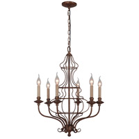 Mariana Cage 6 Light Chandelier in Rustic Bronze 560636