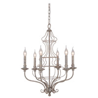 Mariana Cage 6 Light Chandelier in Rustic White 560684