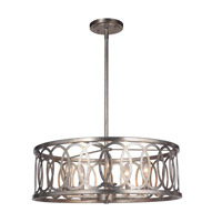 Mariana 562314 Corbin 5 Light 24 inch Soft Gold/Silver Leaf Pendant Ceiling Light Convertible to Semi Flush