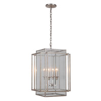 Signature 4 Light 17 inch Silver Leaf Hanging Lantern Ceiling Light