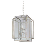 Hanging Lantern 8 Light 22 inch Antique Silver Leaf Hanging Lantern Ceiling Light