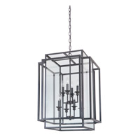 Hanging Lantern 8 Light 22 inch Urban Bronze Hanging Lantern Ceiling Light