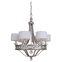 Mariana 590655 Hadessah 6 Light 26 inch Soft Gold Chandelier Ceiling Light