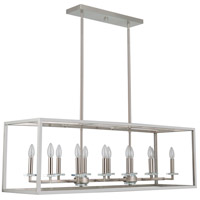 Mariana 601245 Graham 12 Light 44 inch Satin Nickel Island Pendant Ceiling Light
