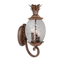 Pineapple 2 Light 15 inch Oil Rubbed Bronze Wall Sconce Wall Light