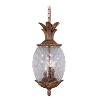 Mariana Pineapple 3 Light Pendant in Aged Bronze 610223
