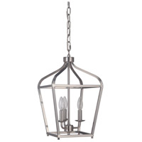 Pierre 3 Light 11 inch Satin Nickel Lantern Ceiling Light