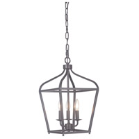 Pierre 3 Light 11 inch Urban Bronze Foyer Lantern Ceiling Light