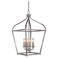 Mariana 610645 Pierre 6 Light 17 inch Satin Nickel Foyer Lantern Ceiling Light