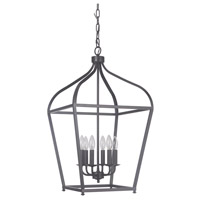 Pierre 6 Light 17 inch Urban Bronze Lantern Ceiling Light