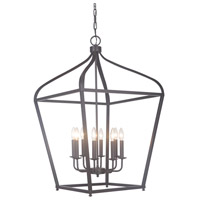 Pierre 8 Light 22 inch Urban Bronze Foyer Lantern Ceiling Light
