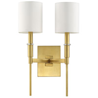 Mariana 620242 Clement 2 Light 12 inch Brass Wall Sconce Wall Light