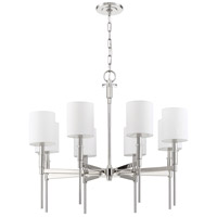 Mariana 620825 Clement 8 Light 30 inch Polished Nickel Chandelier Ceiling Light