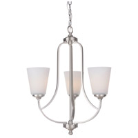 Hugo 3 Light 20 inch Satin Nickel Chandelier Ceiling Light