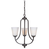 Hugo 3 Light 20 inch Urban Bronze Chandelier Ceiling Light