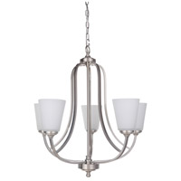 Hugo 5 Light 26 inch Satin Nickel Chandelier Ceiling Light