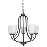 Hugo 5 Light 26 inch Urban Bronze Chandelier Ceiling Light