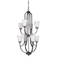 Hugo 8 Light 23 inch Urban Bronze Chandelier Ceiling Light