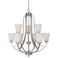 Mariana 630945 Hugo 9 Light 30 inch Satin Nickel Chandelier Ceiling Light