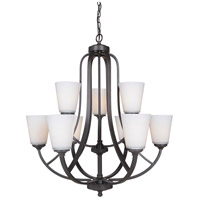 Hugo 9 Light 30 inch Urban Bronze Chandelier Ceiling Light