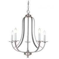 Mariana 635545 Nicola 5 Light 24 inch Satin Nickel Chandelier Ceiling Light