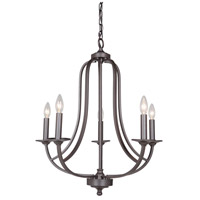 Nicola 5 Light 24 inch Urban Bronze Chandelier Ceiling Light