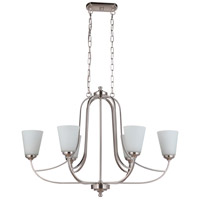 Mariana 636645 Hugo 6 Light 30 inch Satin Nickel Island Chandelier Ceiling Light