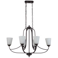 Mariana 636683 Hugo 6 Light 30 inch Bronze Island Chandelier Ceiling Light