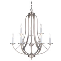 Mariana 639945 Nicola 9 Light 29 inch Satin Nickel Chandelier Ceiling Light