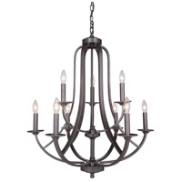 Mariana 639983 Nicola 9 Light 29 inch Urban Bronze Chandelier Ceiling Light