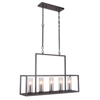 Landon 5 Light 38 inch Bronze Pendant Ceiling Light