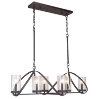 Mariana 660676 Durante 6 Light 41 inch Bronze Pendant Ceiling Light